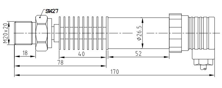4~20ma(二线制),0~5v,1~5v,0~10v(三线制)   供电电压: 24